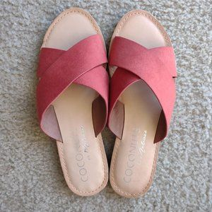 NEW Coconuts by Matisse Rust Suede Slides Sandals
